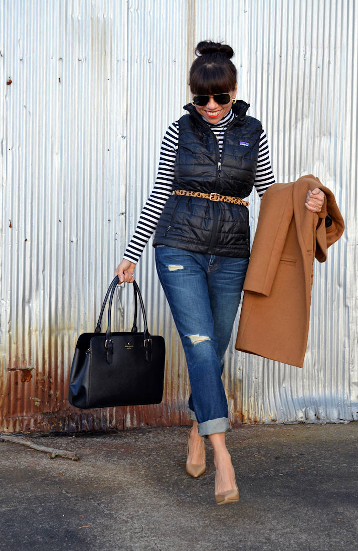 Striped shirt street style