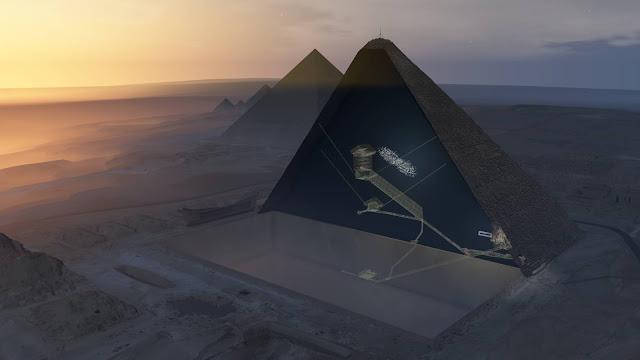 A cada minuto, centenas de partículas elementares atravessam nosso cérebro sem causar danos. São os múons, produzidos quando os raios cósmicos se chocam contra os átomos nas camadas externas da atmosfera e que caem em milhões sobre a Terra. Uma equipe internacional de cientistas usou esse fluxo constante de partículas com a mesma carga que os elétrons, mas cerca de 200 vezes mais pesadas, para fazer uma espécie de radiografia no interior da Grande Pirâmide de Quéops, em Gizé (Egito). Isso permitiu descobrir um