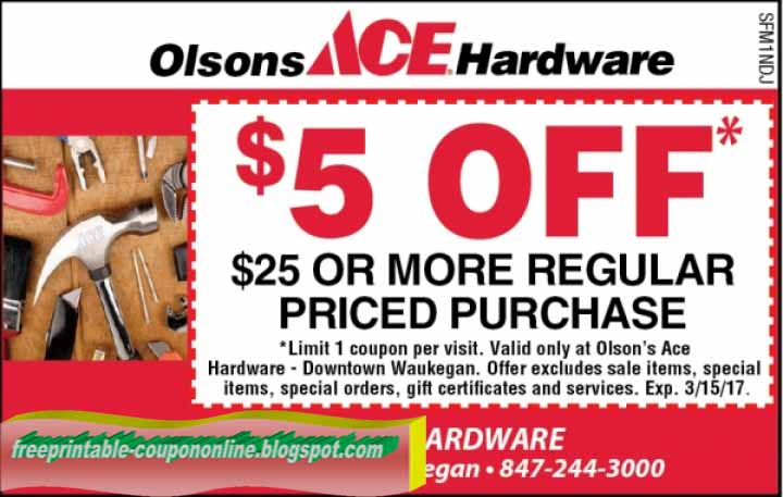 image regarding Ace Hardware Printable Coupons named Ace components coupon codes march 2019
