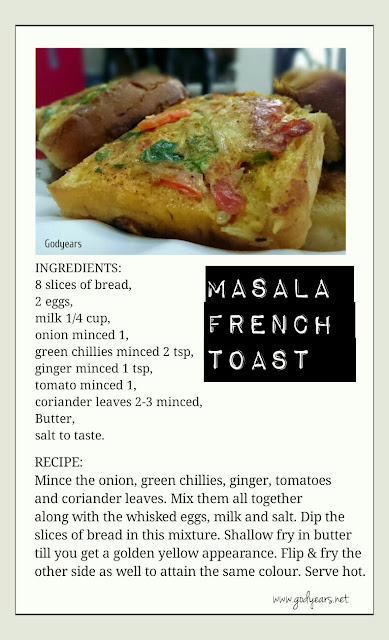 Masala French Toast recipe - an Indian twist