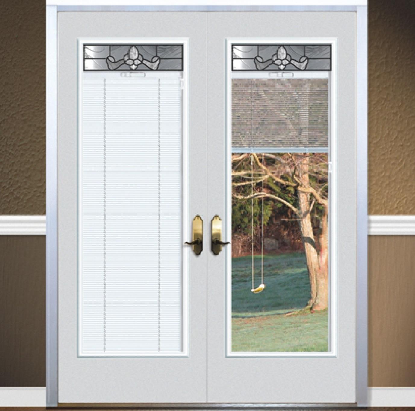 patio doors with internal blinds