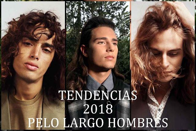 cabello largo 2018 hombres