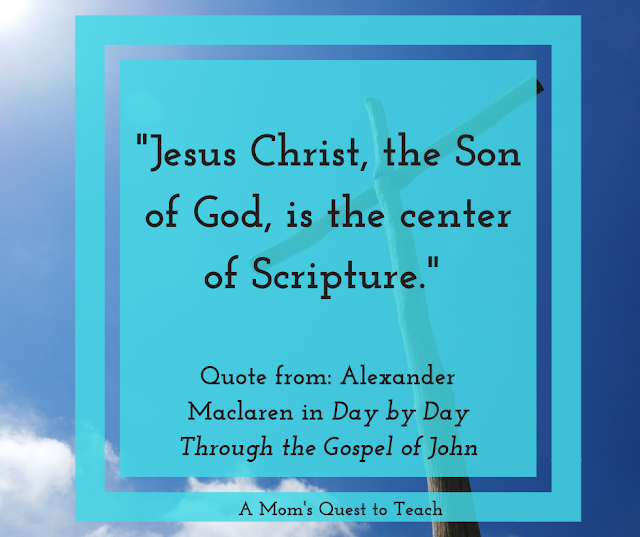 Jesus Christ, the Son of God...quote from Day by Day