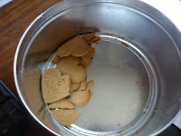 Nearly empty biscuit tin