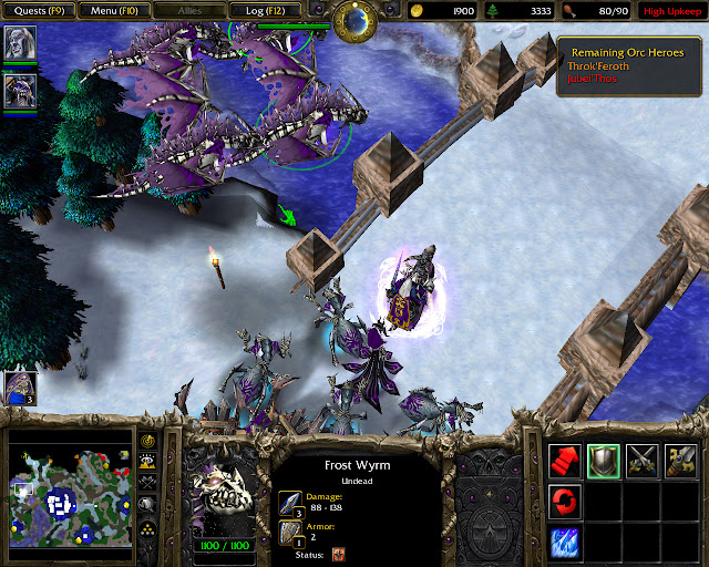 Blackrock and Roll, Too Mission 17 | Frost Wyrm Screenshot | Warcraft 3: Reign of Chaos