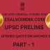 UPSC PRELIMS CURRENT AFFAIRS QUESTIONS ANSWERS IN ENGLISH PART-1