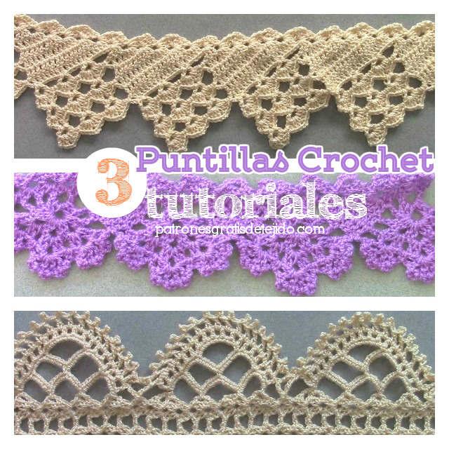 Puntillas o bordes crochet para manteles 3 tutoriales for Remates a ganchillo