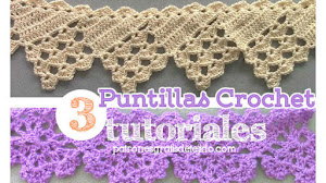Puntillas o bordes crochet para manteles / 3 Tutoriales