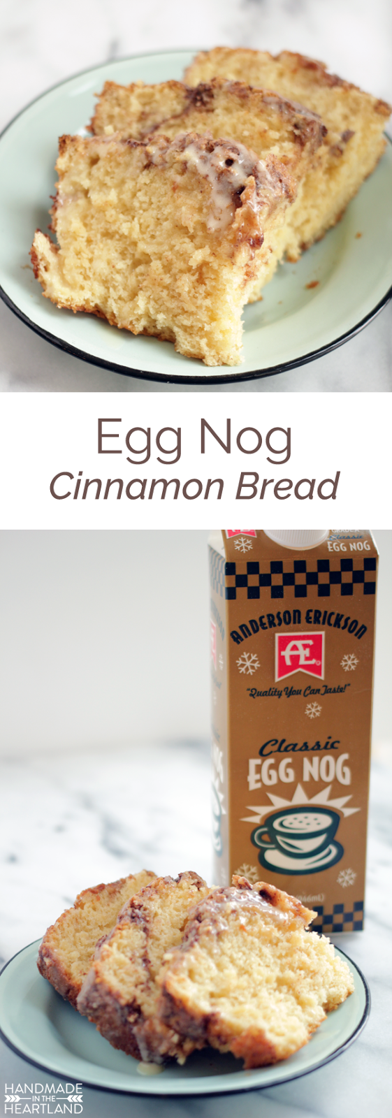 The perfect recipe for Christmas morning! Egg Nog Cinnamon Bread