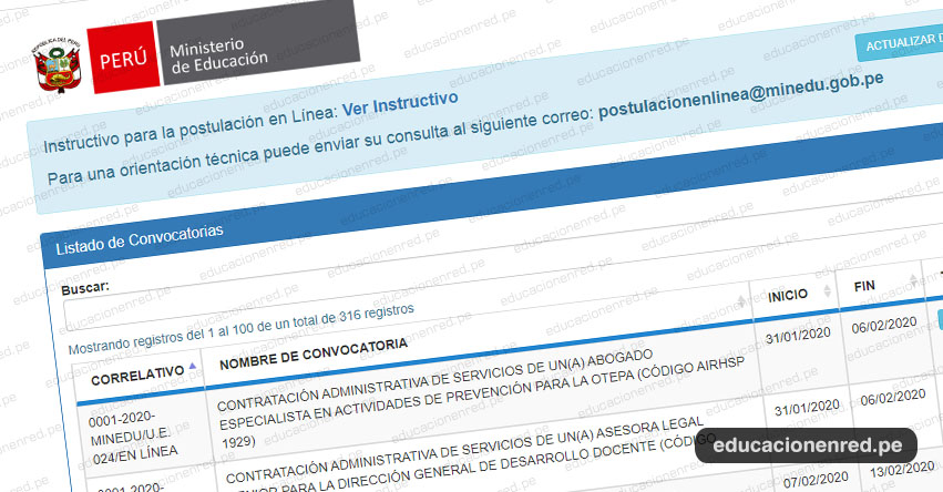 MINEDU: Convocatoria CAS FEBRERO 2020 - Más de 300 Puestos de Trabajo en el Ministerio de Educación [INSCRIPCIÓN DE POSTULANTES] www.minedu.gob.pe