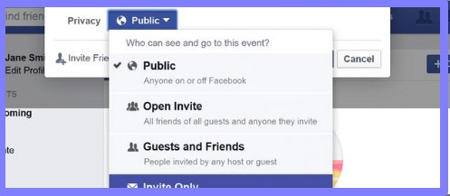 how to create an event on facebook app