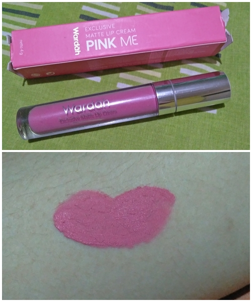 Review Wardah Exclusive Matte Lip Cream, Pink Me 04!
