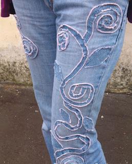 Kot Pantolonda Çıkmayan Lekelere Süsleme Yapımı