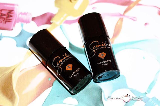 Lakier hybrydowy UV Hybrid Semilac - Velvet Disco nr. 177 oraz Midnight Samba  nr. 179