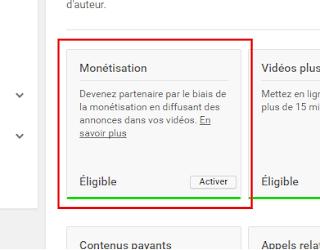 Activer la monétisation des vidéos sur YouTube