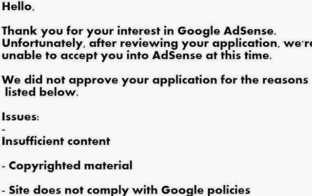 Google Adsense Approval Criteria