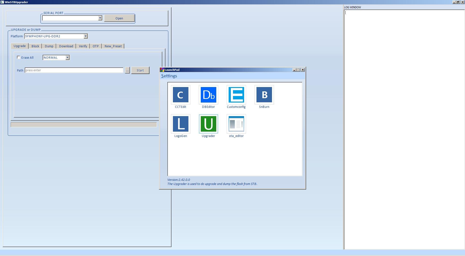 Download WinSTBUpgrader Software Flash Receiver Chipset Montage