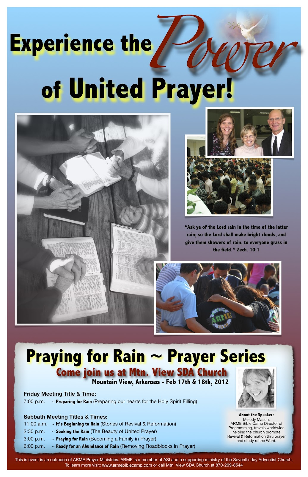 Melodious Thoughts & Blessings: Come Join us Feb 18th - Praying for Rain