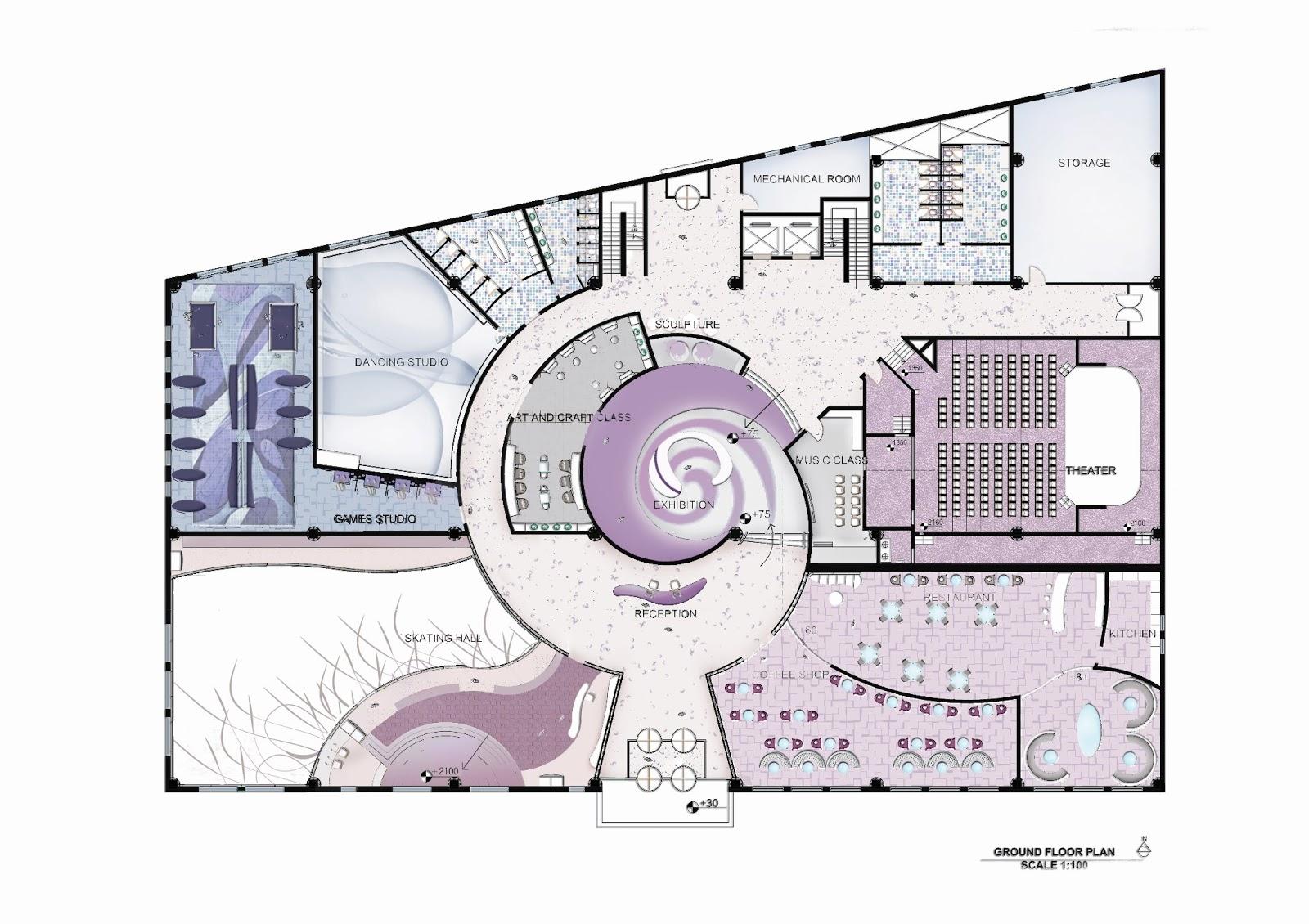 Chalet Designs Doaa Abdalla S Portfolio Youth Center Design