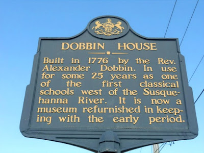 1776 Dobbin House Historical Marker in Gettysburg Pennsylvania