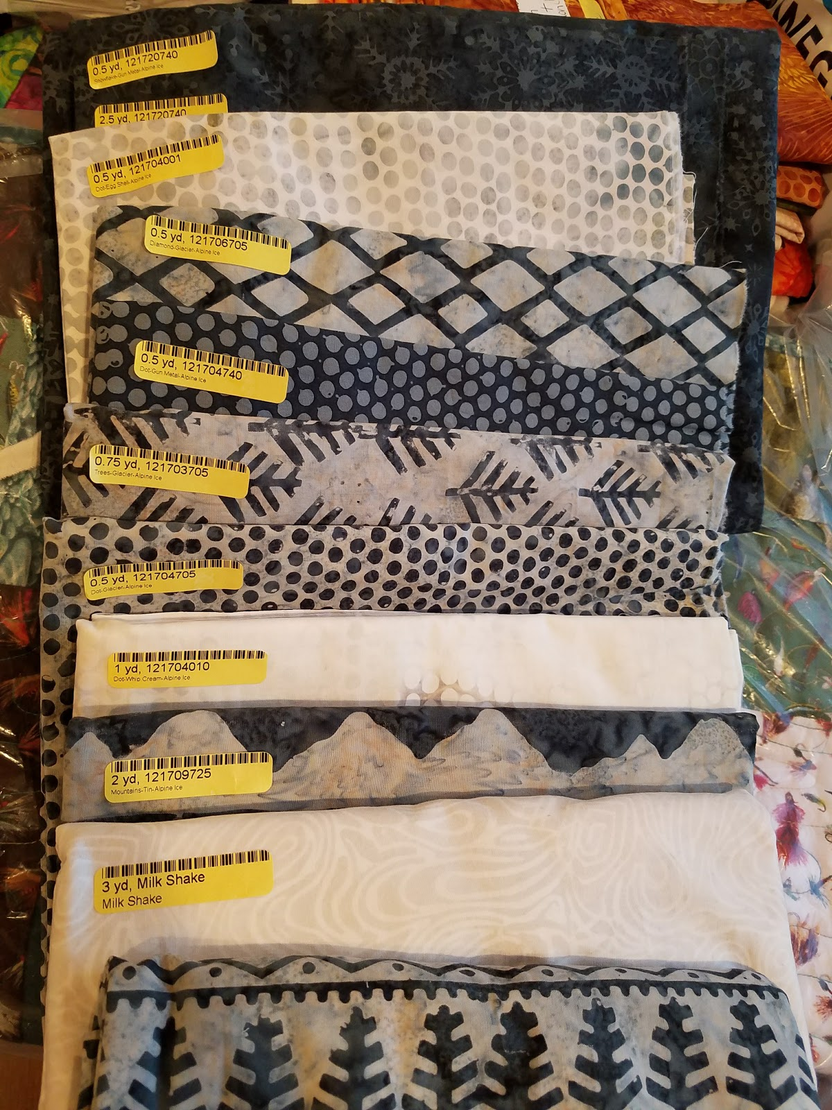 Kissed Quilts Keeping It Simple And Stunning Alpine Nights In Alpine Ice