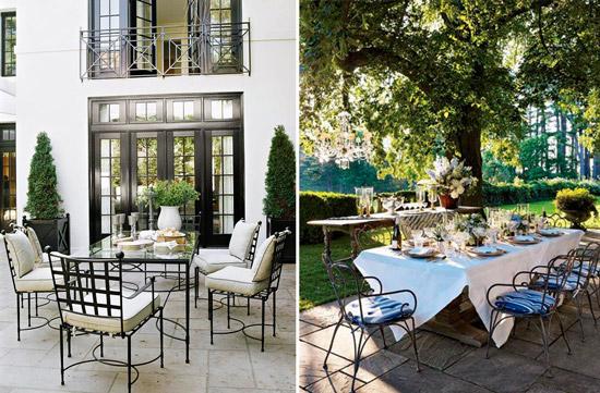 Blog de mbar muebles sillas de forja para jardines y for Comedores exteriores para terrazas