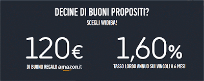 Widiba ti Regala 120€ in Buoni Amazon