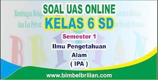 Soal UAS IPA Online Kelas 6 SD Semester 1 ( Ganjil ) - Langsung Ada Nilainya