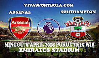 Prediksi Arsenal vs Southampton 8 April 2018