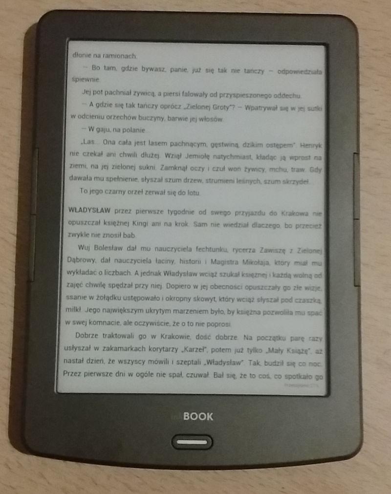 Aplikacja Woblink na InkBOOK Classic 2 - widok strony e-booka
