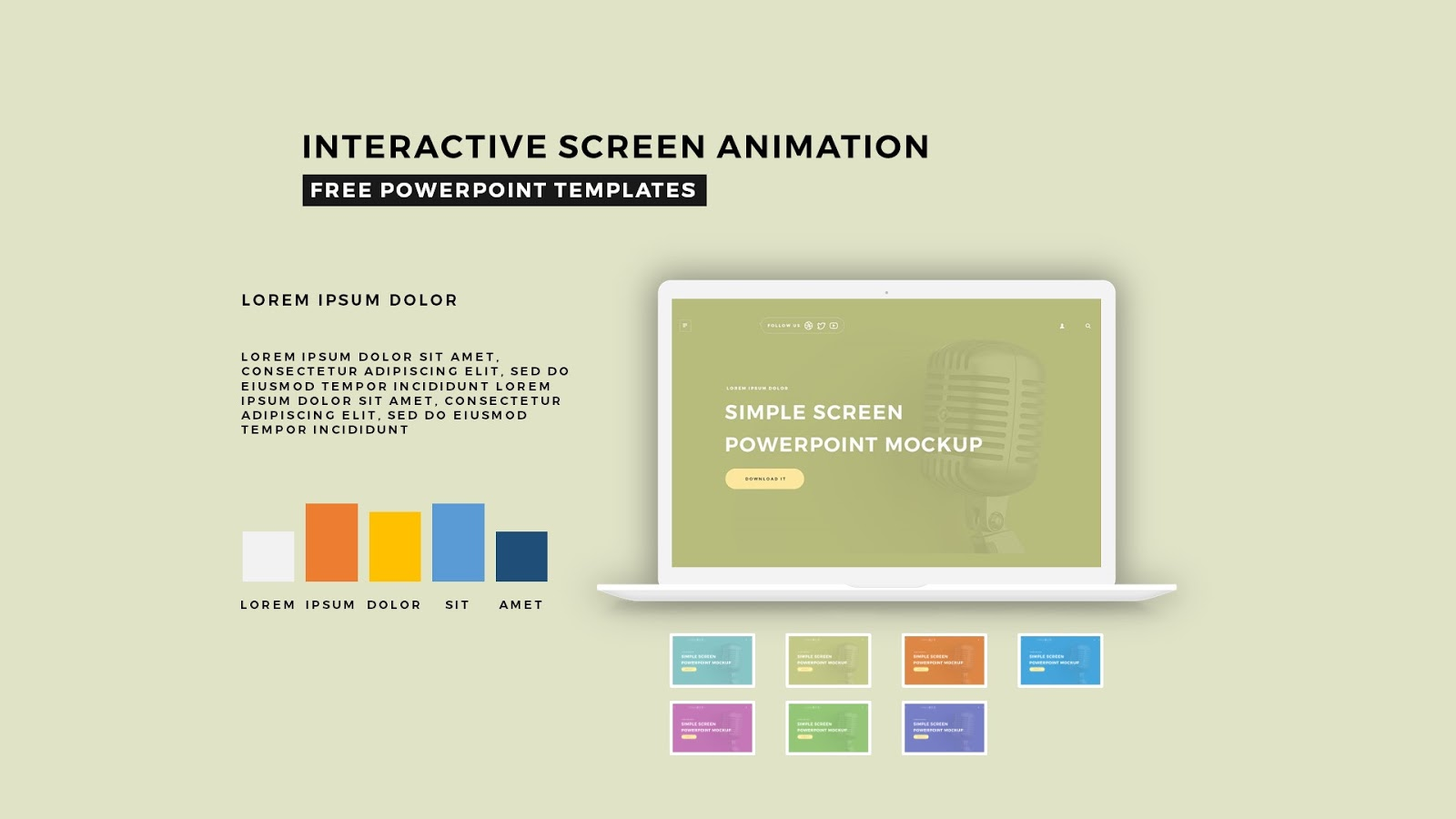free interactive powerpoint presentation templates - interactive screen animation powerpoint template