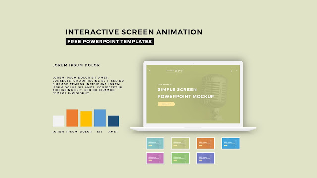 Interactive Screen Animation PowerPoint Template Slide 2