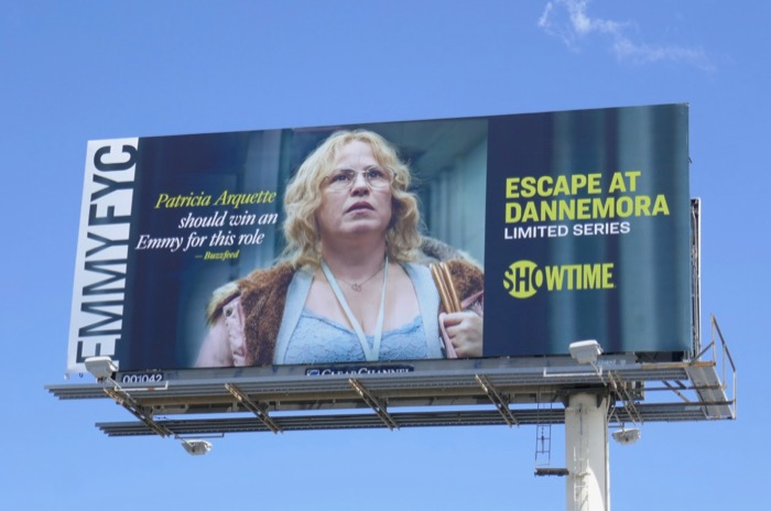 Patrica Arquette Escape at Dannemora Emmy FYC billboard