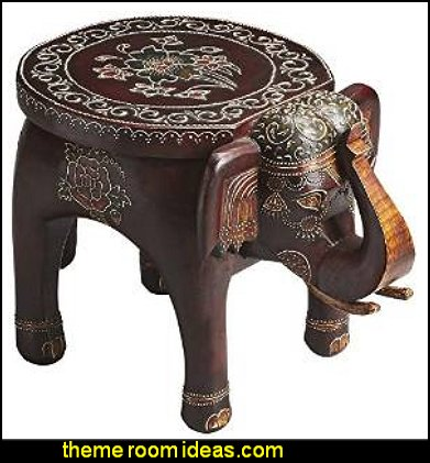 Artifacts Mango Wood Elephant Accent Table