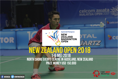 Jadwal New Zealand Open 2018