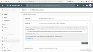 verifikasi search console