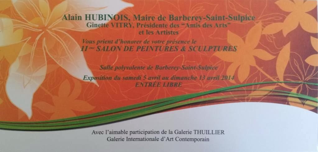 isafara l 39 exposition de peintures et sculptures barberey st sulpice du 5 au 13 avril isafara. Black Bedroom Furniture Sets. Home Design Ideas