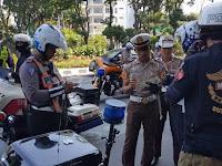 10 Pengendara Harley Davidson Dirazia Polantas di Surabaya