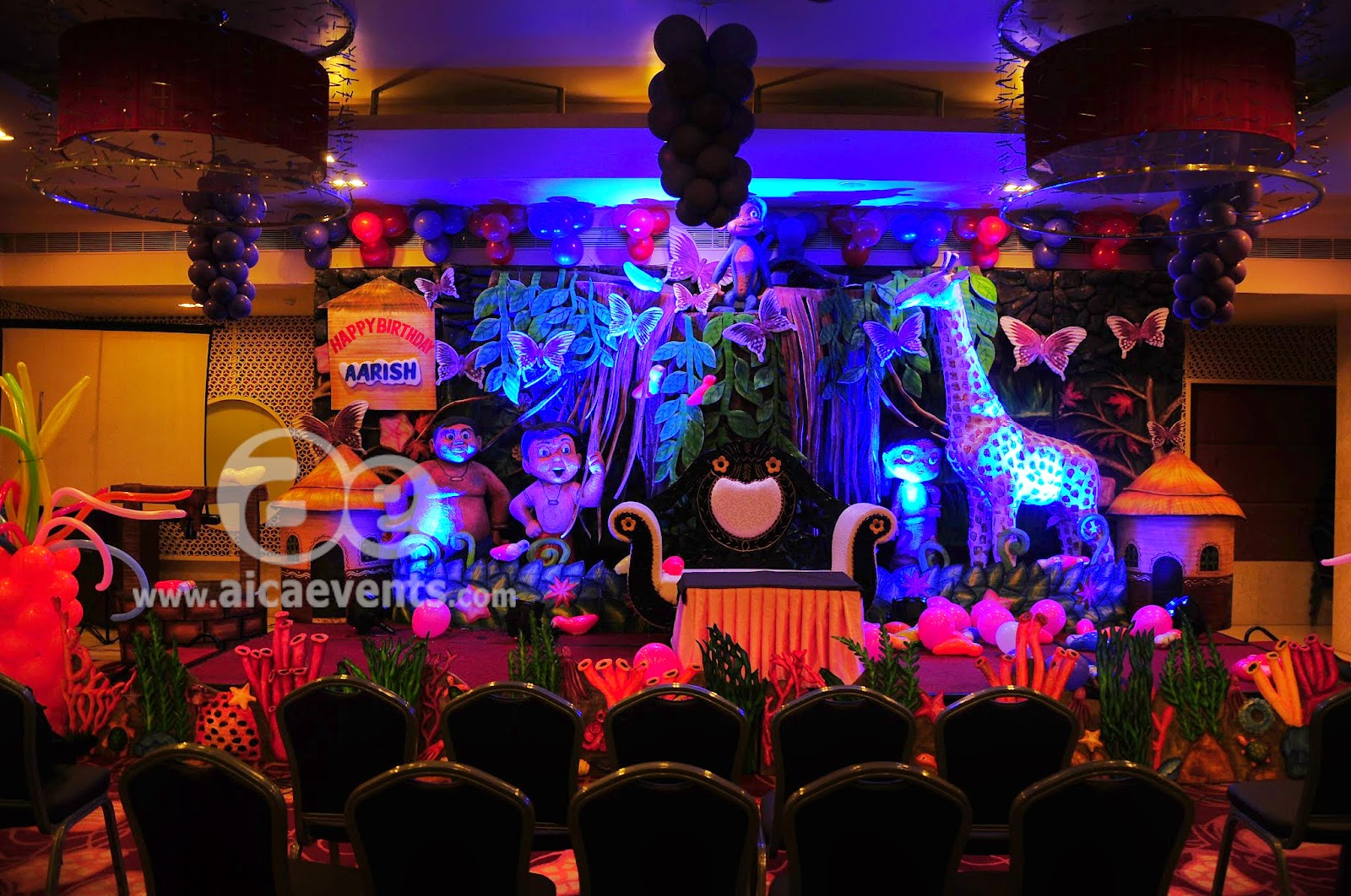 Aicaevents India Chhota Bheem Theme Birthday Party