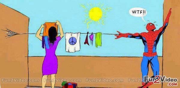 Marriage brings difficulties even to spiderman Funny humor Cartoons, Images