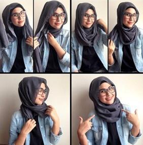 tutorial hijab pendek