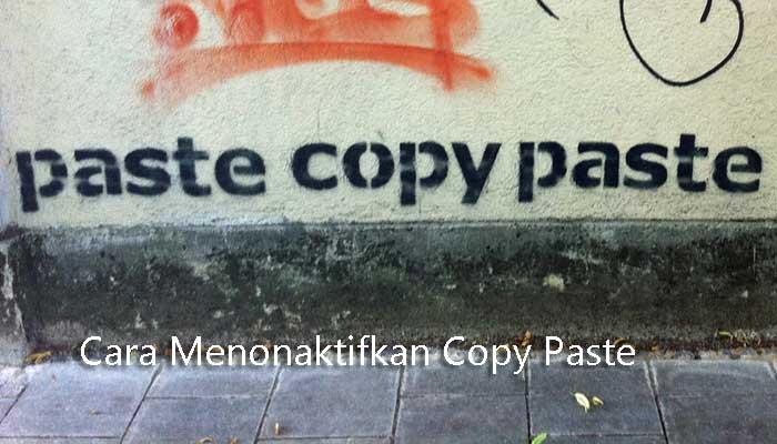 nonaktifkan copy paste
