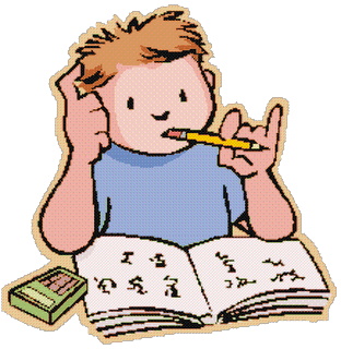 boy studing - تعلمية المواد : استراتيجيات و طرق  حل المسائل