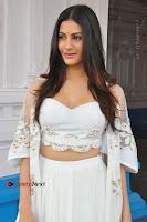Telugu Actress Amyra Dastur Stills in White Skirt and Blouse at Anandi Indira Production LLP Production no 1 Opening  0045.JPG