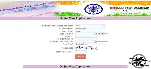 Indian Visa Online - Solicitud de visado online