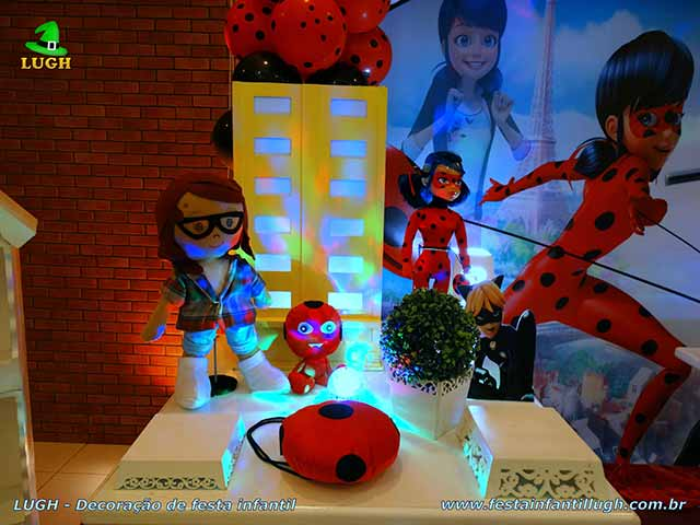 Decoração infantil Ladybug - Miraculous - Cat Noir - Festa infantil