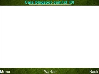 Cara Membuat Tulisan Artikel Blog Lewat HP Nokia E63