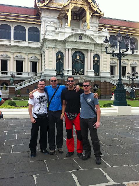 El grupo en el Gran Palacio