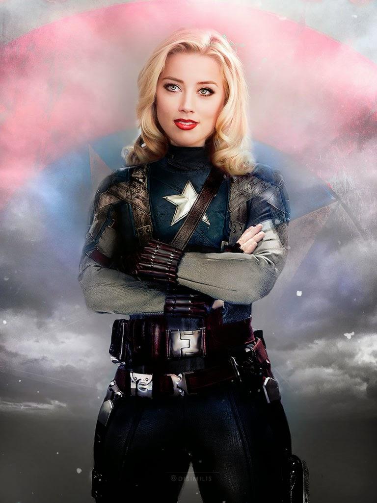 Amber Heard como Capitán América