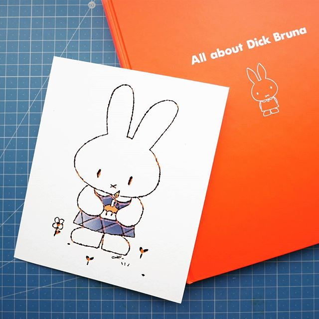 miffy, illustration, fanart, inspiration, ilustración, conejita, bunny,
